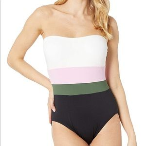 Kate Spade Color Blocked one piece Swimsuit NEW